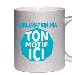 Mug Gris Gliter Personnalisé